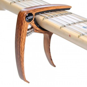 Capo Electric Guitar imitation wood curved