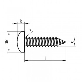 Screw 2,9 x 9,5 inox pan head (8 units)