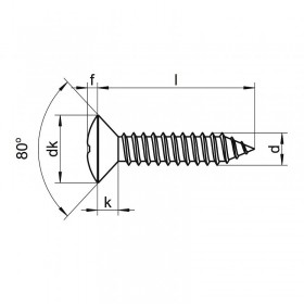 Screw 2,9 x 9,5 blued oval head (8 units)