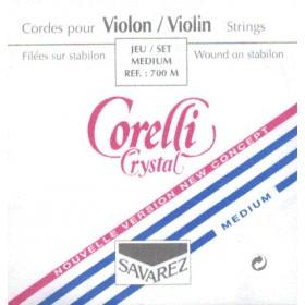 Violin string set  4/4 Corelli Crystal
